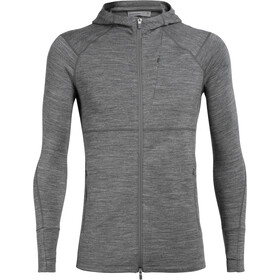 Icebreaker Quantum II LS Zip Hood Men gritstone heather